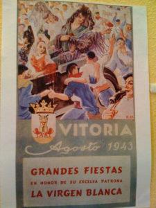Cartel de fiestas de Vitoria