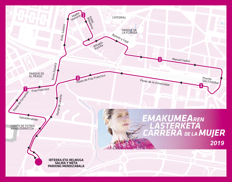 """La """"Marea Rosa"""" de la Carrera de la Mujer regresa a Vitoria – Gasteiz este domingo"""