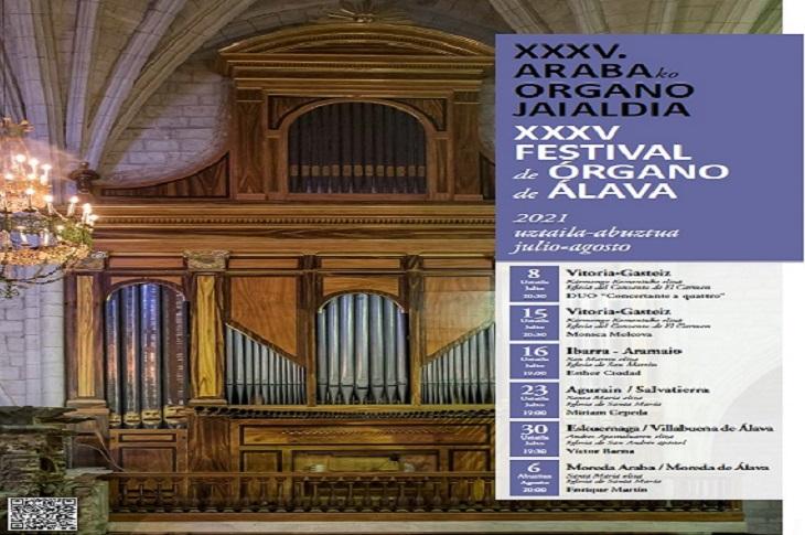 La XXXV Edición del Festival de Órgano vuelve a su formato original